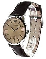 Emporio Armani Classic Renato AR2427 - Reloj analógico de cuarzo para hombre, correa de cuero color marrón de Emporio Armani