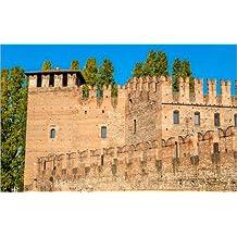 Cuadro sobre lienzo 50 x 30 cm: Castelvecchio fortress in Verona de Colourbox - cuadro terminado, cuadro sobre bastidor, lámina terminada sobre lienzo auténtico, impresión en lienzo