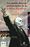 Les grands discours de la troisième république de Victor Hugo à Clémenceau