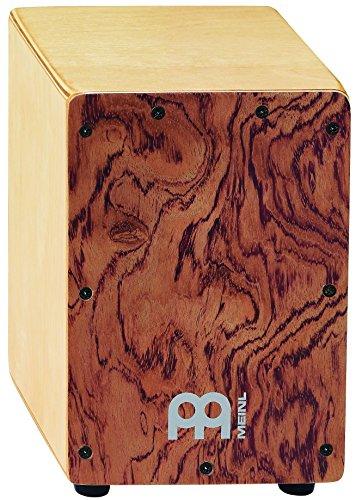 Meinl Percussion SCAJ1NT-LB–Mini cajon con struttura in legno di betulla e pannello anteriore