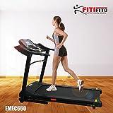 Fitifito® Laufband Heimtrainer Fitnessgerät 99+ Programme klappbar LED Bildschirm Dämpfung (EMEC660B)
