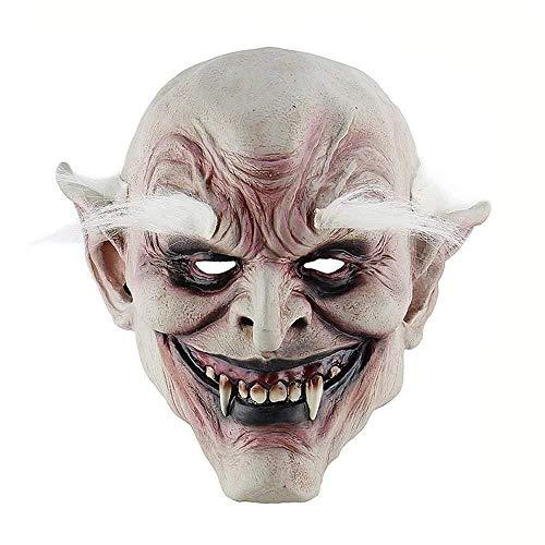 Halloween Monster Zombie Maske Scary Adult Latex Kostüm Party Horror Gesichtsmaske Voller Kopf Vampir Cosplay Maske Maskerade Requisiten (Adult Kostüm Latex)