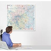 Postleitzahlenkarte Nordrhein-Westfalen, 1:280 000, folienbeschichtet