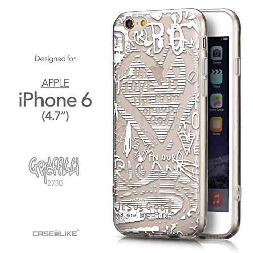 CASEiLIKE Graffiti 2703 Housse Étui UltraSlim Bumper et Back for Apple iPhone 6 / 6S (4.7 inch) +Protecteur d'écran+Stylets rétractables (couleur aléatoire) 2730