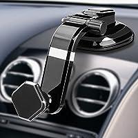Magnético Soporte Móvil Coche, Soporte Universal con Ventosa de Gel Fuerte, Fácil Toque y Compatible con iPhone X / 8/7 Plus / 6S / 6S Plus/Galaxy S8 / S9 Plus / S7 / S7 Edge/LG