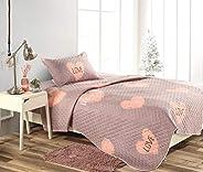 Kids Comforter3 PCs Set-Grey/Pink