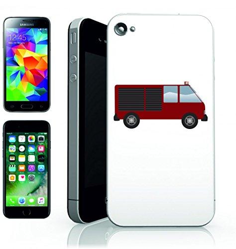 Smartphone Case camion dei vigili del fuoco di vigili del fuoco di Van di veicolo di emergenza per Apple Iphone 4/4S, 5/5S, 5C, 6/6S, 7& Samsung Galaxy S4, S5, S6, S6Edge, S7, S7Edge Huawei HTC