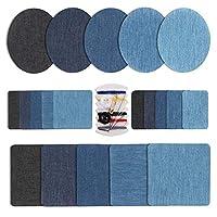 5 colori diversi: nero, blu cielo, blu scuro, blu e azzurro.Ampia gamma di usi: Puoi usare la patch sul fai-da-te per creare i tuoi vestiti, borse, scarpe, cappelli e sciarpe preferiti. Se la inforcatura o gli ginocchi sono rotte , puoi usare...