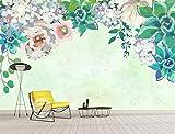 Papel Pintado Art Foto Mural Flor Nórdica Simplicidad Papel Tapiz Fotográfico Personalizado 3D Murales Grandes Sofá Dormitorio Moderno Pintura Mural Decoración Para El Hogar - 430x300CM(LxH)-XXXL