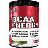 Evlution Nutrition BCAA Energy | Leistungsstarke Energiespendende Aminosäuren Für Muskelaufbau, Erholung Und Ausdauer | 30 Portionen | Kirsche Limeade