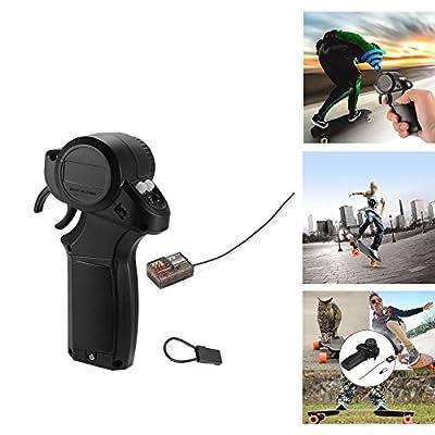 Mini 2.4GHz Radio Fernbedienung Transmitter mit 4 Kanal Spritzen Beweis Empfänger und Bindung Stecker für elektrische Skateboard DIY von Sxstar