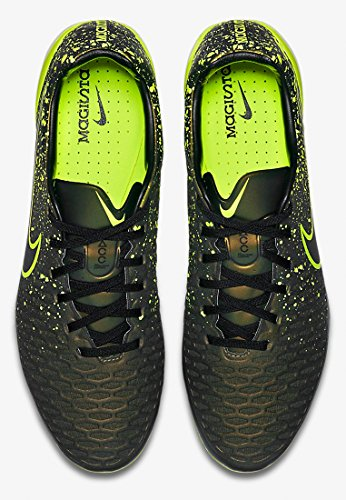 Nike Magista Opus Sg-Pro, Chaussures D'entraînement de Football Homme, UK Or / Vert / Noir (Dark Citron / Volt-Black-Black)