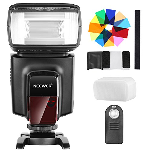 Neewer TT560 Flash Speedlite mit 12 Farbfiltern und IR Drahtlose Fernbedienung Kit für Canon Nikon Panasonic Olympus und andere DSLR...
