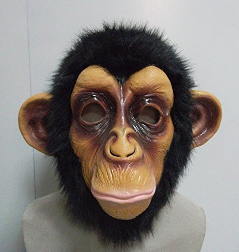 The rubber plantation tm 619219291576 chimp testa completa maschera travestimento di halloween accessorio per costume da scimmia scimmia zoo animal, unisex, taglia unica