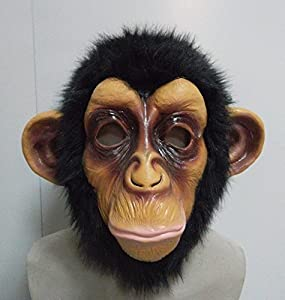 The Rubber Plantation TM 619219291576 Chimp - Máscara de látex de cabeza completa para disfraz de Halloween, Halloween, Ape, Monkey, Animal, Zoo, Unisex adulto, Talla única