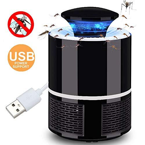 Toyfun Lampara Mata Mosquitos Electrico 360 ° LED Luz de Onda Guiada Bug Zapper Mosquito Killer Lamp,Sin Productos Químicos (Negro)