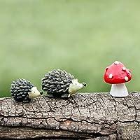 BESTIM INCUK Miniature Fairy Garden Hedgehog Mushroom Home Decoration Outdoor Decor