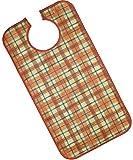 PFLEGE-POINT® Kleidungsschutz / Ess-Schürze für Erwachsene, wasserdicht (terra)