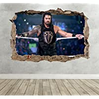 3D Roman Reigns Smashed Breakout Wall Sticker WWE Boys Bedroom Decal Poster - Extra Large Landscape 100cm (w) X 70cm (h) preiswert