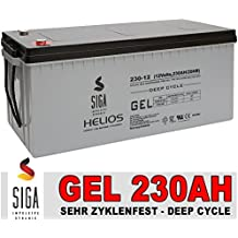 SIGA Blei Gel Batterie 12V 230Ah Solarbatterie Wohnmobil Versorgungsbatterie 200Ah 220Ah