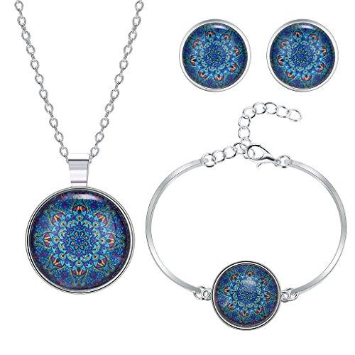 anazoz-parure-comprenant-collier-boucles-doreille-bracelet-en-alliage-motif-fleur-de-datura-bleu