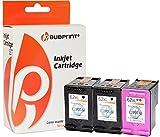 Bubprint 3 Druckerpatronen kompatibel für HP 62 XL HP 62XL HP62XL für Envy e-All-in-One aio 5540 5545 5548 5640 5660 OfficeJet 5742 Set Schwarz Farbe