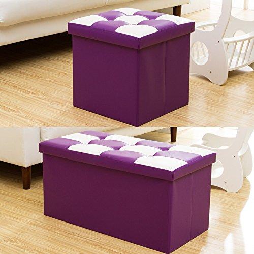 Preisvergleich Produktbild Der Stuhl der Stuhl kann mit einem Hocker, einem Haushalt storage Hocker, ein multifunktionaler Klappstuhl, ein Spielzeug, eine Sortierbox, eine Couch, ein Hocker und ein Hocker, Rechteck, Violett