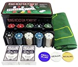 Toyshine Poker Game Set with 200 Chips, Steal Box