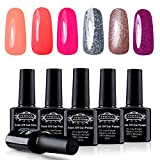 Perfect Summer 6pcs UV Led Gel Nail Polish Soak Off Mix Color Collection Beauty kits 10ml #066