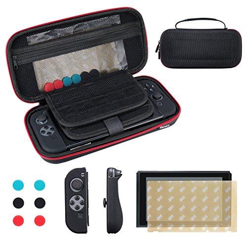 Vemico Nintendo Switch Tasche EVA Harte Reise Hülle Prämie gehärtetes Glas Displayschutzfolie offizieller Wechselstromadapter Zubehör -