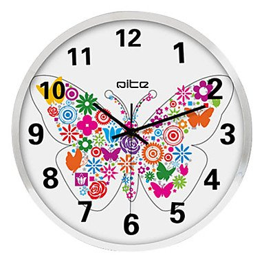 Animal Butterfly Stainless Steel Wall Clock