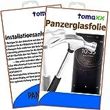 tomaxx Panzerglas für Sony Xperia XA2 Ultra auch Dual SIM - Panzerfolie Glasfolie Bildschirmschutzfolie