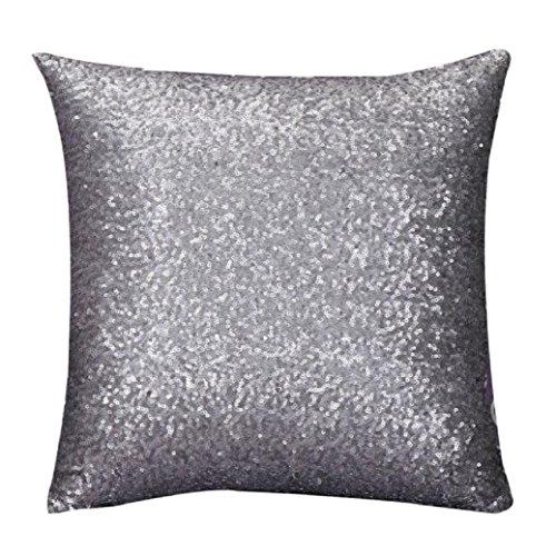 Fami Solido colore Glitter Paillettes tiro del cuscino di caso Cafe per la casa federe I