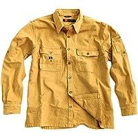 Señor Camisa de exterior robusta overshirt en marrón, Mustard, color verde y caqui, camiseta de manga larga de Cacatúa Australia, hombre, color mostaza, tamaño xxx-large