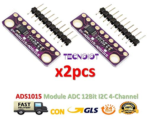 2pcs I2C ADS1015 12-bit Precision ADC 4 Channel Converter Module  Development Board Module with Programmable Gain Amplifier | 2pcs AD10 AD10  Modulo