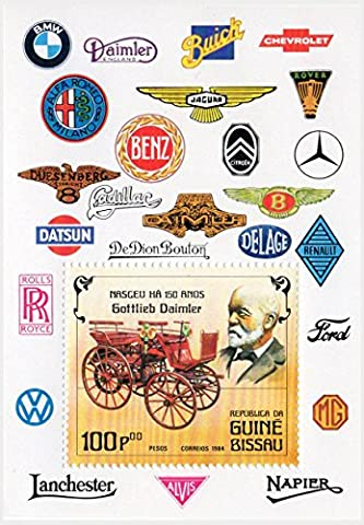 Old - Timer Cars Souvenir Briefmarkenbogen für Sammler - 1 Briefmarke 1984 / scott Nr: 552 / mint - Scott Album