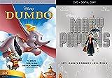 Mary Poppins + Dumbo Animated Classic Disney DVD Musical Movie Bundle
