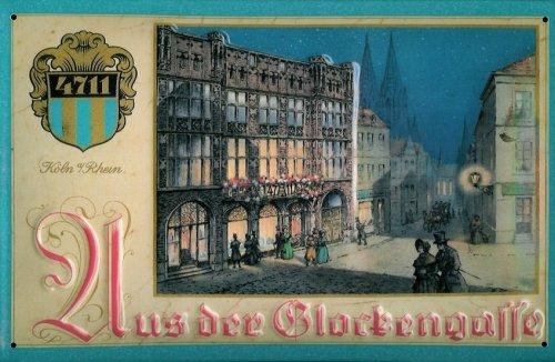 Blechschild Nostalgieschild 4711 Aus der Glockengasse Köln Parfum Werbeschild Kosmetik Schild - Parfum Köln