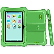Yuntab Q88H Tablet para niños - Tablet Infantil de 7 Pulgadas Incluye iWawa Software niños Pre-instalado ( Android 4.4.2 KitKat, Quad-Core, WiFi, Bluetooth, HD 1024x600, 32 GB, 8GB ROM, Doble Cámara, Google Play) (Tableta verde, Caja verde)