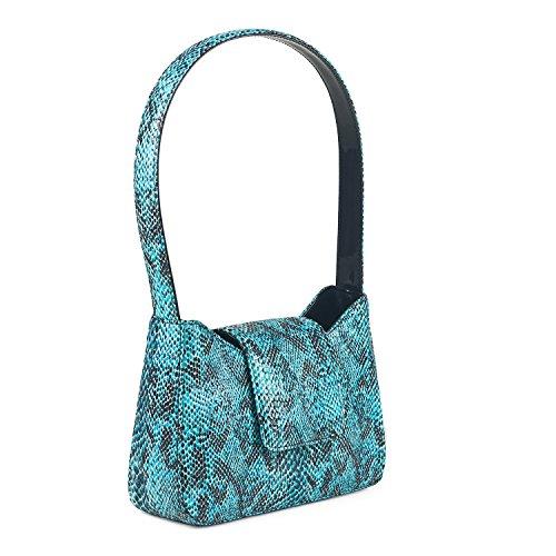 luigi324 - 81111, Borsa a spalla Donna Blu (blu)
