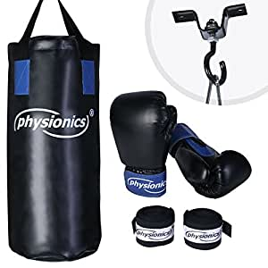 physionics set de boxe enfant sac de frappe avec. Black Bedroom Furniture Sets. Home Design Ideas