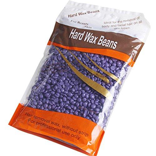 Haarloser Sommer! Hautpflege Enthaarungs-Perle Hartwachs Brasilianische Granulat Heiße Film Haarentfernung Wachs Bohne, 10 Unze / 300g,Lavendel