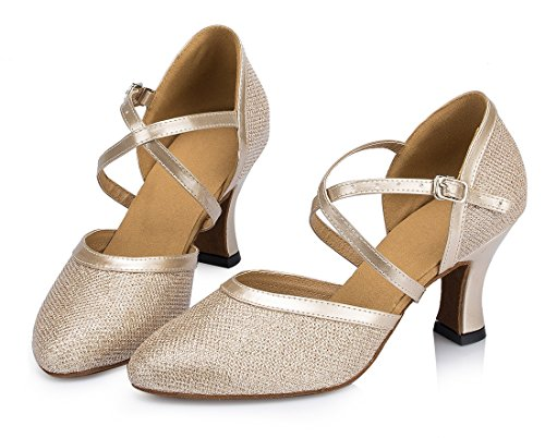 TDA - Strap alla caviglia donna 7cm Heel Champagne