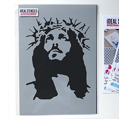 Jesus krone of stachel schablone, streichen wände stoff und möbel, wiederverwendbar kunst handwerk Ideal Stencils Ltd - L/37X43CM