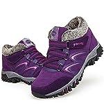 gracosy Women Flat Walking Hiking Ankle Boots, Winter Low Rise Slip On Trekking Footwear Anti-Slip Shoes with Fur Lined… 10