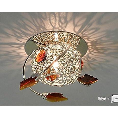 FEI&S Art LED Lámpara luz cristalina del corredor corredor lámparas de techo y lámparas auxiliares Bull's Eye luces linterna 12*7.5cm, 12*11cm,5 watt LED oculto (marrón),con el mejor servicio