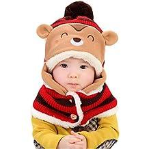 Tefamore Sombreros de bufanda de abrigo de lana de Coif de Lindo invierno para bebé