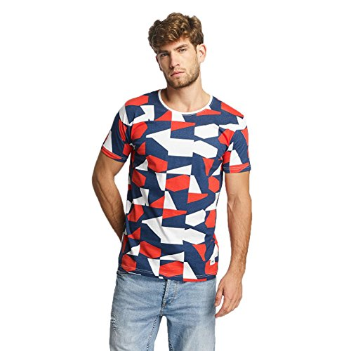 Lindbergh Uomo Maglieria/T-Shirt Allover Printed Blu