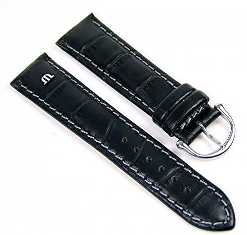 Maurice Lacroix Ersatzband Uhrarmband Leder Krokooptik schwarz 20mm 16216S