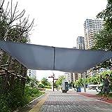 Cocoarm Sonnensegel Wasserabweisend imprägniert Sonnenschutz Garten Balkon und Terrasse wetterbeständig Rechteck Grau 3 x 4m
